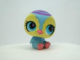 Littlest Pet Shop #3005 Blue & Yellow Penguin w/ Purple Swirl & Aqua Blu... - $6.43