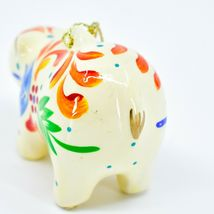 Handcrafted Painted Ceramic White Polar Bear Confetti Ornament Made in Peru image 4