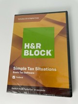 2019 H & R Block Simple Tax Situations Basic Tax Software Windows Mac Fe... - $8.59