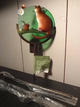 Cat and Flowers Votive Holder Garden Stake - $6.85