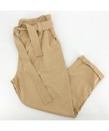 Women's Topshop Tan High Rise Paper Bag Waist Pants sz 14 - $33.87
