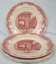 Johnson Brothers Red Twas the Night Salad Plate set of 4 - $48.40