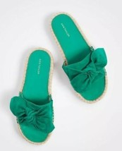 NEW In BOX Womens Ann Taylor Green Nellie Suede Bow Espradille Sandals Sz 9  - $34.64