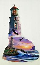 "20"" Seaside coastal lighthouse light house with eagles ocean steel metal... - $64.35"