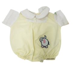Vintage Cabbage Patch Kids Coleco Yellow & White Elephant Romper Doll Outfit - $23.38