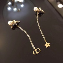 "Authentic Christian Dior ""LA PETITE TRIBALE"" EARRINGS Pearl Dangle Star image 8"