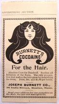 Antique print advert Burnett's Cocoaine dandruff cure 1899 - $14.00