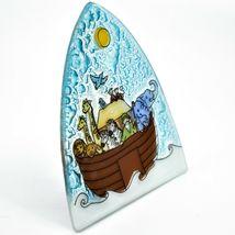 Fused Art Glass Noah's Ark Christian Religious Night Light Handmade in Ecuador image 6