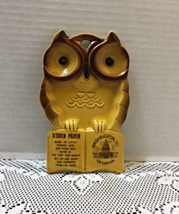Vintage Owl Kitchen Prayer Spoon Rest Washington D.C. Souvenir Kitschy k... - $10.25