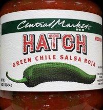 Central Market HEB Salsa 16 Oz (Pack of 2) (Hatch Green Chili Salsa Roja - Mediu - $27.42
