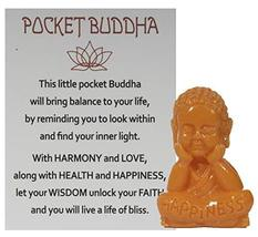 Gnz 1.5 Inch Pocket Buddah Charm/Shelf Sitter with Story Card (Happiness) - €3,99 EUR