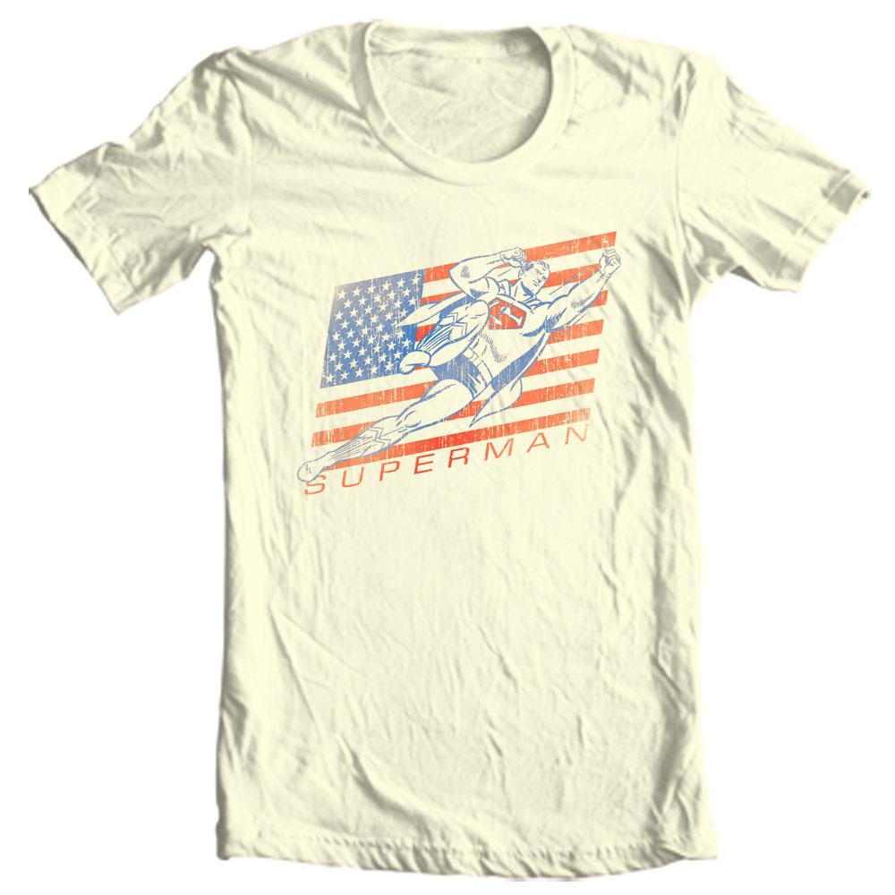 595fe95c7 Vintage Superman T-shirt Classic Golden Age DC comics graphic cotton ...