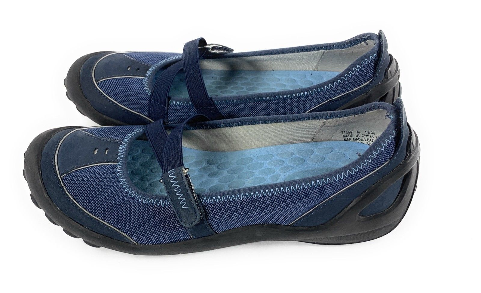 Privo by Clarks 74660 Mary Jane Walking Driving Shoes Navy Blue Women's 7M