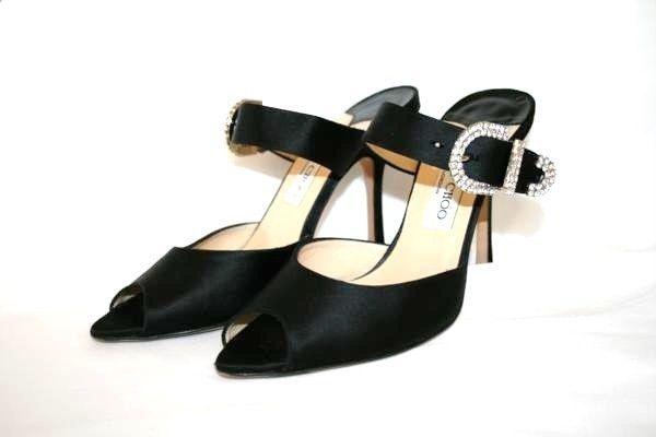 Jimmy Choo Aurora Silver Glitter Pumps Pointy Toe Low Kitten Heel Shoe 38.5