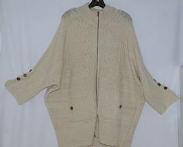 Simply Noelle Brand JCKT222Z Womens Pearl Zippered Sweater Jacket Size XXL image 2