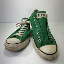 True Vintage Converse All Star Low Top Kicks Sneakers Shoes Kelly Green ... - $54.42