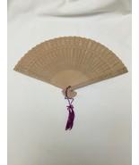 wooden fan costume prop Victorian steampunk  - $4.95