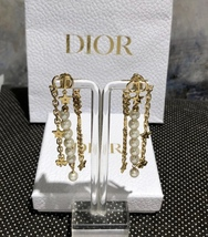 AUTH Christian Dior 2019 DANSEUSE ETOILE MULTI STRAND STAR EARRINGS PEARL GOLD image 2