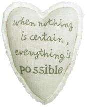 C.R. Gibson Treasured Healing Heart Pillow, By Sandra Magsamen, Pocket On Back W - $5.90