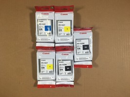 Genuine Canon PFI-102 C,Y,Y,BK,BK for imagePROGRAF iPF500 iPF510 iPF600 ... - $246.51