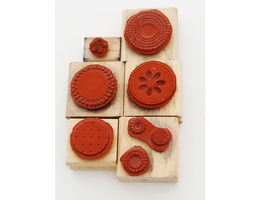 Stampin' Up! Flowers and Circles Wood Mounted Rubber Stamps, Set of 6 image 2
