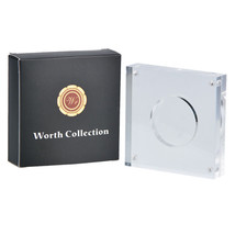 """WR Acrylic Coin Storage Case Transparent Display Holder Single Coin 1.8""""... - $8.82"""
