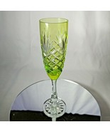 FABERGÉ | LIME GREEN ODESSA CRYSTAL FLUTE | SINGLE - $195.00