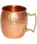 Hammered Pure Copper Moscow Mule Mug Handmade, Brass Handle Hammered Mug... - $25.11+