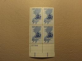 USPS Scott 1247 5c New Jersey Tercentenary 1664-1964 Mint NH Plate Block - $6.18