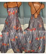 Black Animal & Floral Print Long Nightgown 4X ... - $23.00