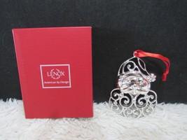 Lenox, Sparkle & Scroll, Silver Plated, Santa Ornament - $7.95