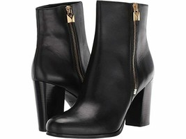 NEW! Michael Kors Black Leather Ankle Booties Frenchie Almond Toe Boots 9 M  - $127.71