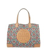 Tory Burch Legacy Paisley Floral Quilted Canvas Leather Tote Shoulder Ba... - $271.76