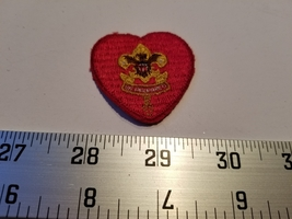 Home Treasure Red Heart Patch Be Prepared Gold Brown Decoration White Le... - $18.99