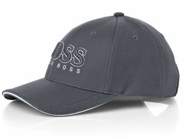 New Hugo Boss Men's Pique Logo Adjustable Trucker Sport Hat Cap 50251244 image 8
