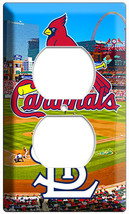 St Louis Cardinals Baseball Team Duplex Outlet Wall Plate Cover Room Home Decor - $10.99
