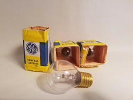 Lot of 3 General Electric GE Appliance Globe Light Bulb Lamps 10W 130V S11 - $12.84