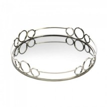 Silver Circles Mirrored Tray - $30.99