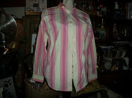 FACONNABLE Poppin Pink+Sunshine Yellow Button Down Shirt Size S - $13.86