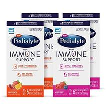 Pedialyte with Immune Support, 24 Count, Electrolytes with Vitamin C and Zinc, A - $53.89