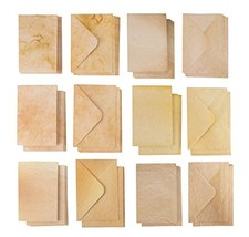 60-Pack Greeting Cards and Envelopes – Aged Style Envelopes and Half-Fol... - $15.65