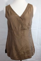 Eddie Bauer women's top blouse sleeveless silk brown size 8 - $15.34