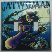 Catwoman Comic Book Cover Light Switch Power Outlet wall Cover Plate Home decor image 2