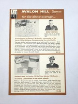 Vintage 1960s Avalon Hill Boardgame Brochure WWII World War 2 Strategy G... - $14.84