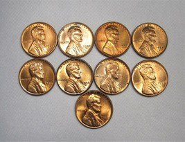 Lincoln Wheat Cent Lot of 5 Uncirculated Coins 1949-1958 AG166 - $47.31