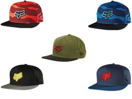 NEW AUTHENTIC FOX MEN'S BASEBALL FLAT BRIM SNAPBACK ADJUSTABLE HAT CAP - $23.39
