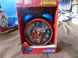 Marvel  Spiderman Quartz Accuracy Twin Bell Alarm Clock red/blue - $9.99