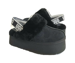 UGG FUNKETTE SLIDE BLACK STRAP SHEARLING SANDALS US 7 / EU 38 / UK 5 - $172.98