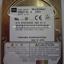 "4.3GB 2.5"" IDE Drive Toshiba MK4309MAT HDD2134 Free USA Ship Our Drives Work"