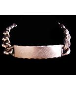 Carol Ann ID Bracelet / Speidel bracelet / rhodium plated - Birthday gif... - $125.00